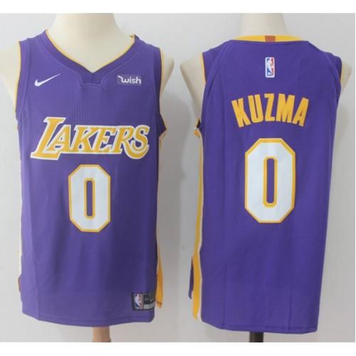 f39479b3e8d Kyle Kuzma Los Angeles Lakers Purple Jersey