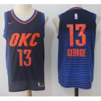 Paul George Oklahoma City Thunder Alternate Blue 2017-18 NBA X Nike Swingman Jersey