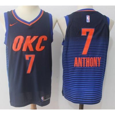 Carmelo Anthony Oklahoma City Thunder Alternate Blue Jersey