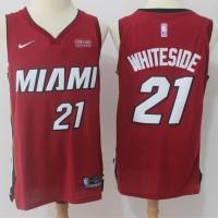 Hassan Whiteside Miami Heat Red Jersey