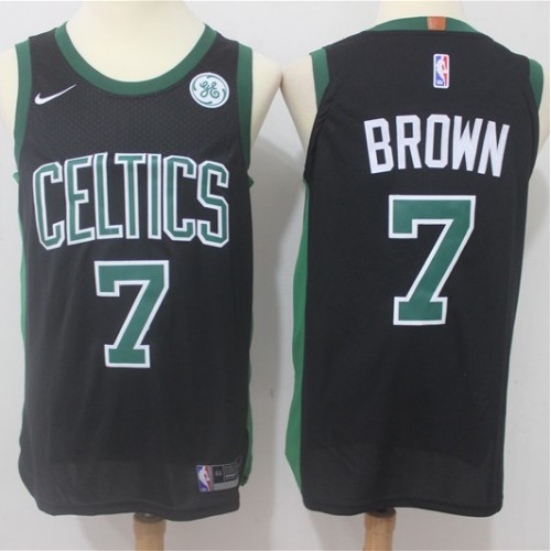 new style 2f966 9fd2f Jaylen Brown Boston Celtics Black Jersey