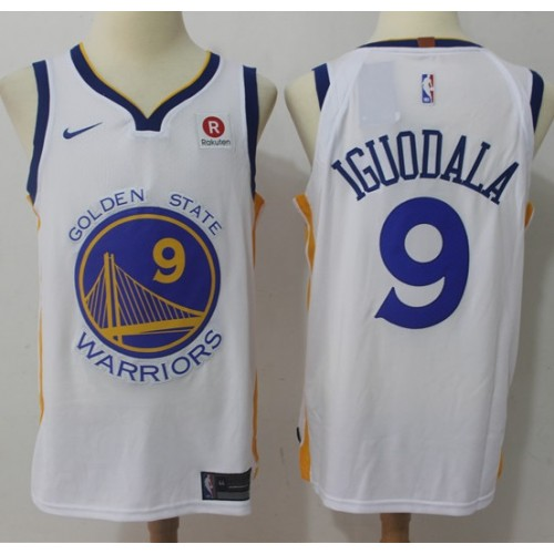 sports shoes fe1ef 6197c Andre Iguodala Golden State Warriors White Jersey