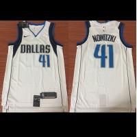 Dirk Nowitzki Dallas Mavericks White Jersey