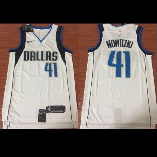 new products 0bd12 da210 Dirk Nowitzki Dallas Mavericks White Jersey
