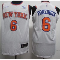 Kristaps Porziņģis New York Knicks White Jersey