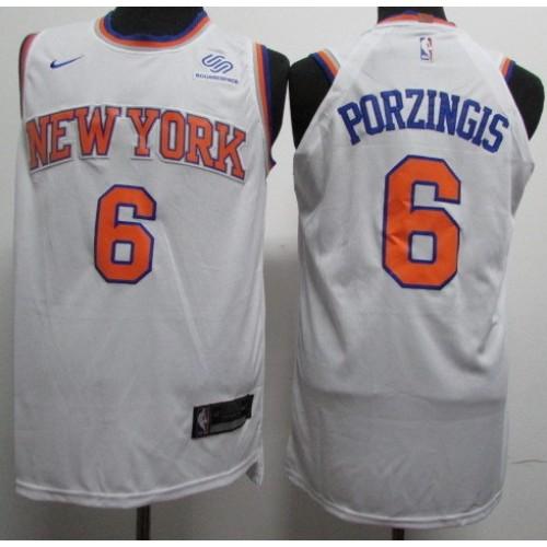 low priced 1effd 2cee1 Kristaps Porziņģis New York Knicks White Jersey