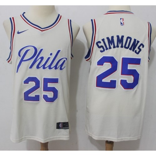 half off 0582b dda29 Ben Simmons Philadelphia 76ers City Edition Jersey
