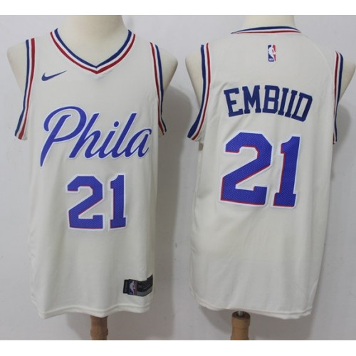 5933539c39b Philadelphia 76ers/Sixers Joel Embiid City Edition Cream (XL - Depop;