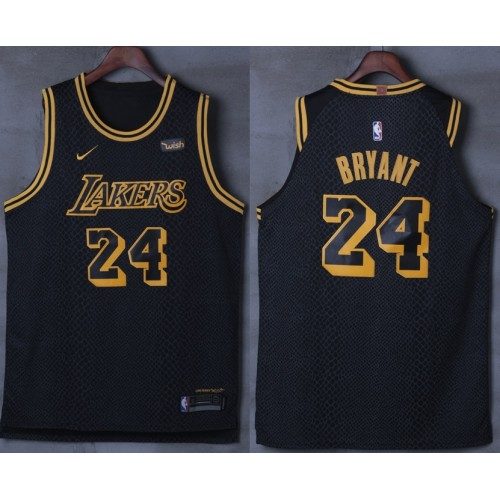 new style f013a 94378 Kobe Bryant No.24 Los Angeles Lakers 2017-18 City Edition Jersey