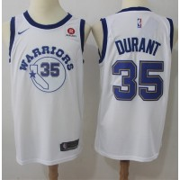 Kevin Durant Golden State Warriors Retro White Jersey
