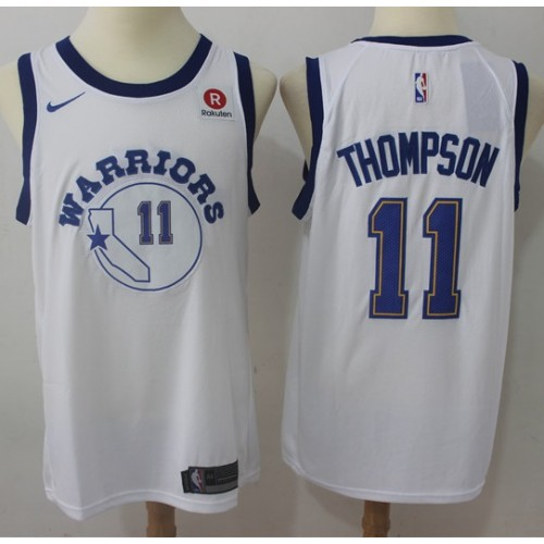 63e787a9171 Klay Thompson Golden State Warriors Retro White Jersey