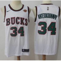Giannis Antetokounmpo Milwaukee Bucks Retro White Jersey