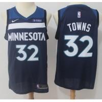 Karl-Anthony Towns Minnesota Timberwolves Navy Blue Jersey