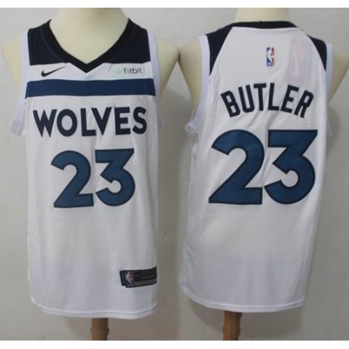 half off 6fdcd ce3b8 Jimmy Butler Minnesota Timberwolves White Jersey