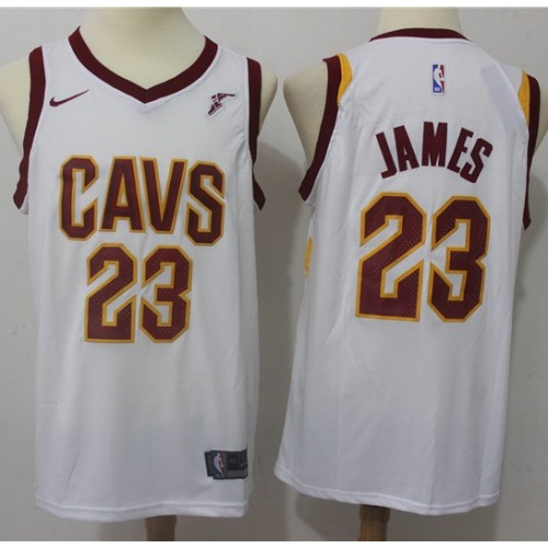 low priced a48a6 84b8e LeBron James Cleveland Cavaliers White Jersey