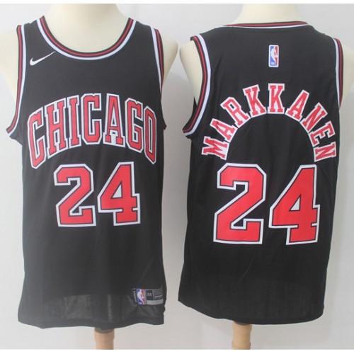 online store f6f27 54e58 Lauri Markkanen Chicago Bulls Black Jersey
