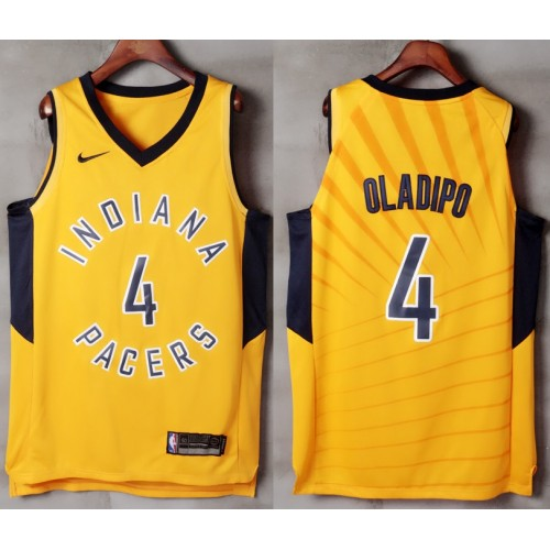55d01894e67 Victor Oladipo Indiana Pacers Yellow Jersey