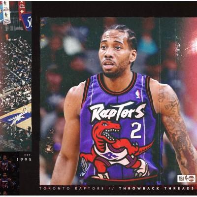 *Kawhi Leonard Toronto Raptors Throwback Purple Jersey