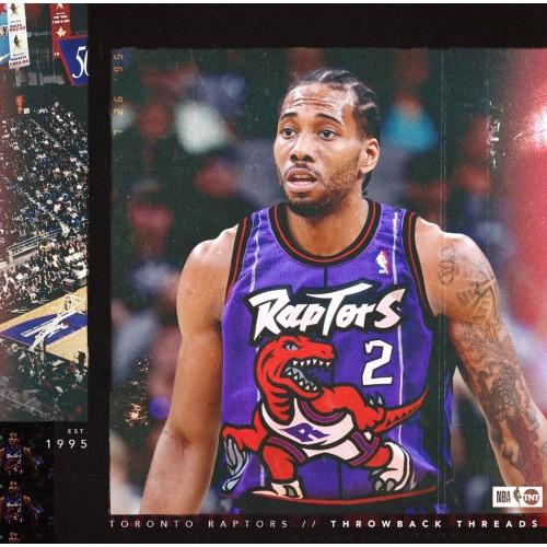 new product a2fa4 34c01 Kawhi Leonard Toronto Raptors Throwback Purple Jersey