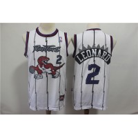 Kawhi Leonard Toronto Raptors Throwback White Jersey