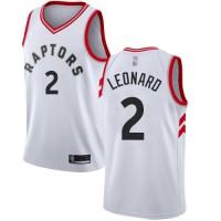 Kawhi Leonard Toronto Raptors White Jersey