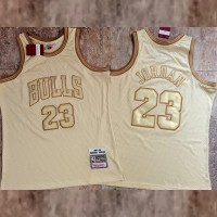 **Midas Gold Michael Jordan Mitchell and Ness Special Edition Jersey** - Super AAA