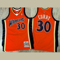 Stephen Curry Mitchell & Ness Golden State Warriors 2009-10 Rookie Season Orange Jersey - Super AAA