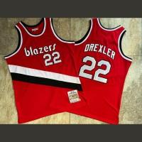 Clyde Drexler Mitchell & Ness Portland Trail Blazers 1983-84 Rookie Season Red Jersey - Super AAA