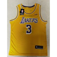 Anthony Davis Los Angeles Lakers Yellow with KB and Finals Logo Patches