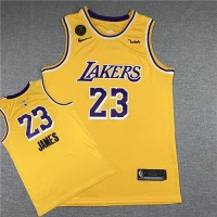 *LeBron James Los Angeles Lakers Yellow Jersey with KB Memorial Patch