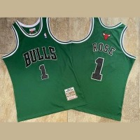 Derrick Rose Mitchell & Ness Chicago Bulls Rookie Season 2008-09 Green Jersey - Super AAA