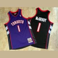 Tracy McGrady Mitchell & Ness Toronto Raptors 1999-00 Front Purple Black Back Jersey - Super AAA