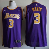 Anthony Davis 2019-20 Los Angeles Lakers Purple Jersey