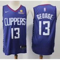 Paul George 2019-20 Los Angeles Clippers Navy Blue Jersey