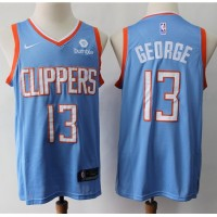 Paul George 2019-20 Los Angeles Clippers Light Blue Jersey