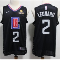 Kawhi Leonard 2019-20 Los Angeles Clippers Black Jersey