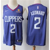 Kawhi Leonard 2019-20 Los Angeles Clippers Navy Blue Jersey