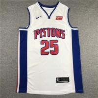 Derrick Rose 2019-20 Detroit Pistons White Jersey