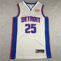 Derrick Rose 2019-20 Detroit Pistons Grey Jersey