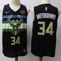 *Giannis Antetokounmpo 2019-20 Milwaukee Bucks Black Statement Jersey