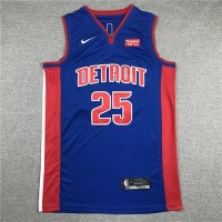 Derrick Rose 2019-20 Detroit Pistons Blue Jersey