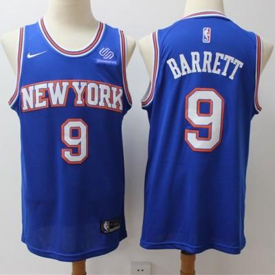 RJ Barrett 2019-20 New York Knicks Blue Jersey