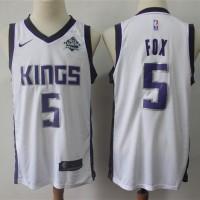 De'Aaron Fox Sacramento Kings White Jersey