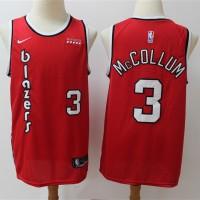 CJ McCollum 2019-20 Portland Trail Blazers Throwback Red Jersey