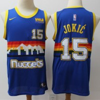 Nikola Jokic 2019-20 Denver Nuggets Throwback Blue Jersey