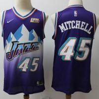 Donovan Mitchell 2019-20 Utah Jazz Throwback Purple Jersey
