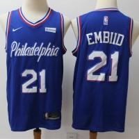 Joel Embiid 2019-20 Philadelphia 76ers Blue Jersey