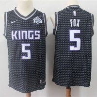 De'Aaron Fox Sacramento Kings Black Jersey