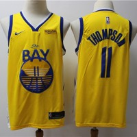 """Klay Thompson 2019-20 Golden State Warriors Yellow """"The Bay"""" Jersey"""