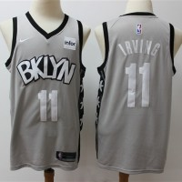 *Kyrie Irving 2019-20 Brooklyn Nets Grey Statement Jersey